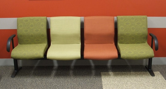 Oncology waiting room beam seating