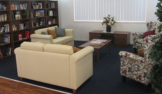 Retirement living communal lounge chairs