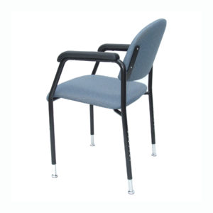 Utility chair with height-adjustable legs - rear