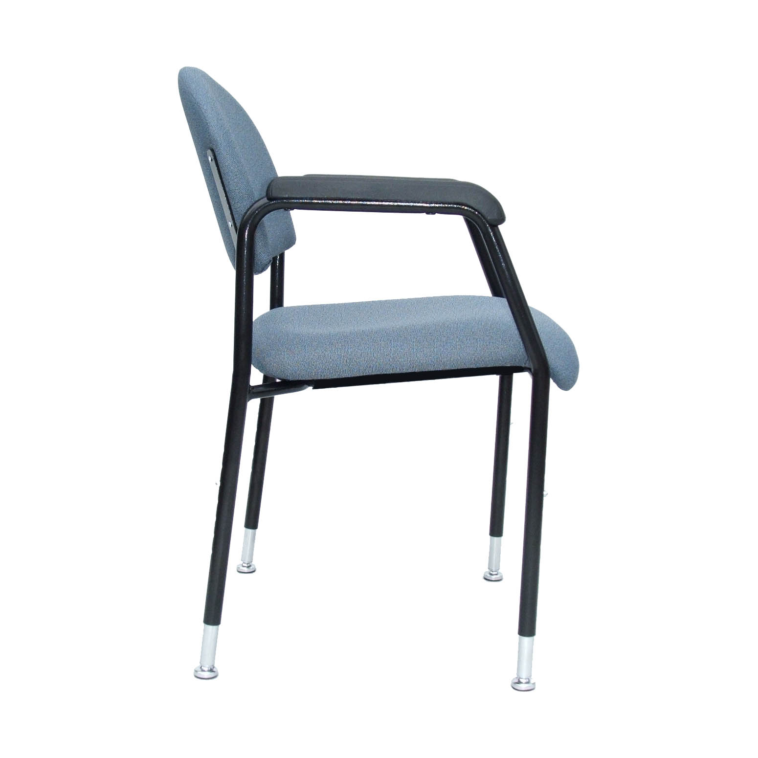 Utility chair with height-adjustable legs - side view