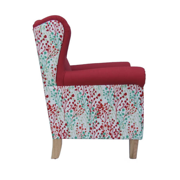 Edward wingback armchair profile