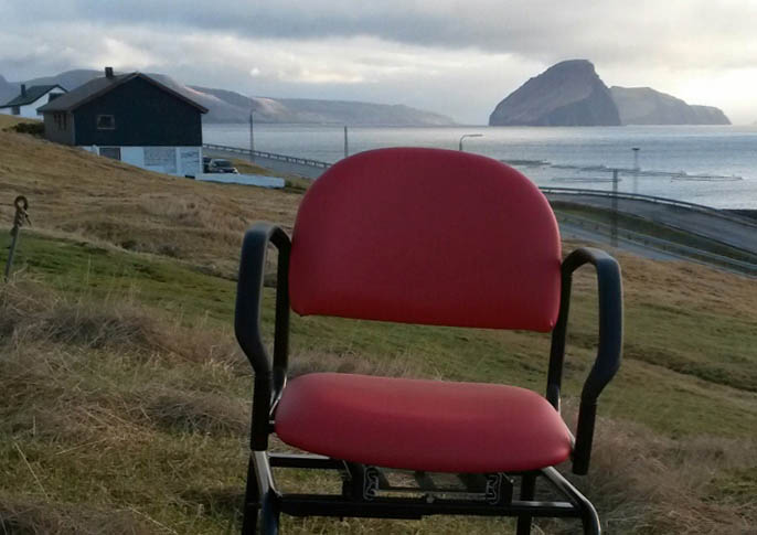 Revolution Chair shipped to the Faroe Islands